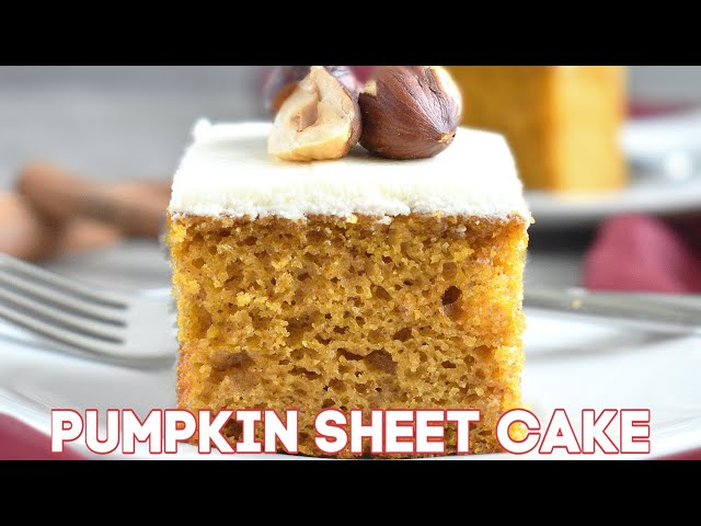 Pumpkin Sheet Cake (VIDEO)