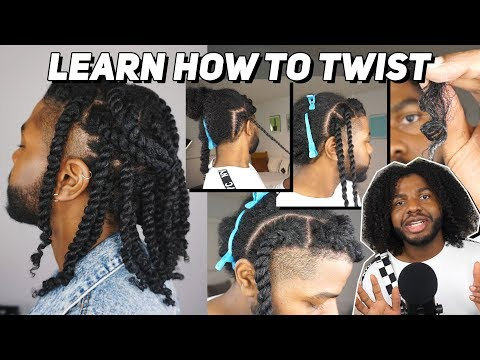 HOW TO FLAT TWIST and TWO STRAND TWIST ON NATURAL HAIR (tutorial)
