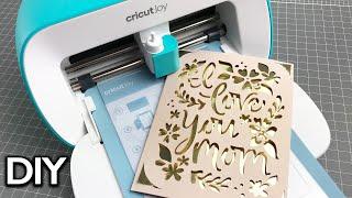 CRICUT JOY TUTORIAL | Mother's Day Card | How to write inside a Cricut Joy card