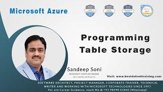 Microsoft Azure | Programming Table Storage in C#