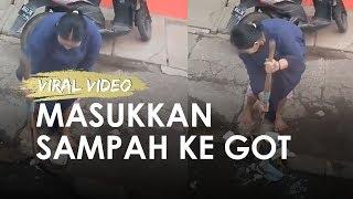 Viral Wanita Masukkan Sampah ke Selokan saat Tergenang, Perekam Beri Penjelasan