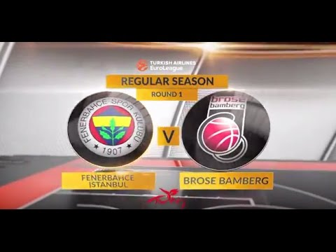 EuroLeague Highlights RS Round 1: Fenerbahce Istanbul 67-66 Brose Bamberg