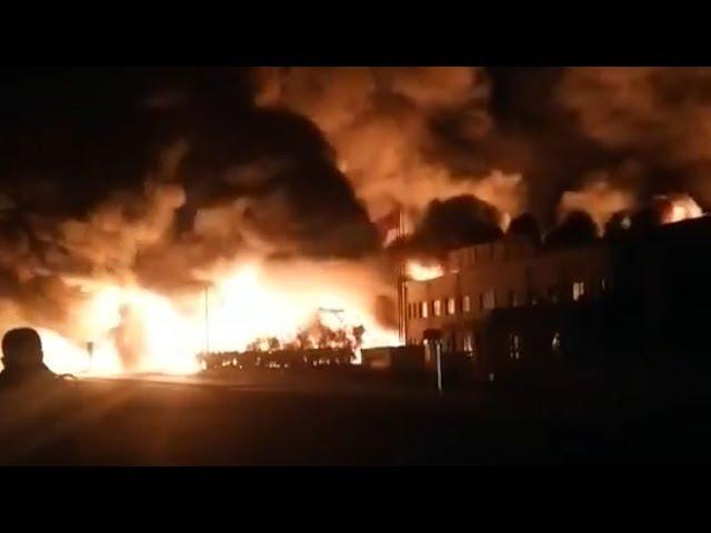 حريق هائل في مستودع للنفط في شمال الصين