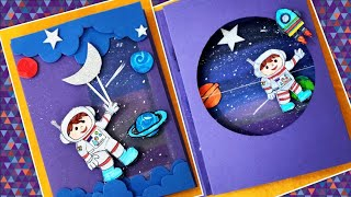 diy astraunot/space theme card/Science project/astronaut card/moving card/paper craft for kids
