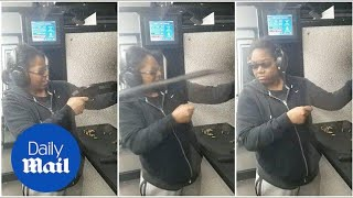 Shotgun Flies Out Of Woman's Hands At The Shooting Range   Daily Mail