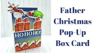 Father Christmas Easy Pop Up Box Card | Official Raymond Briggs