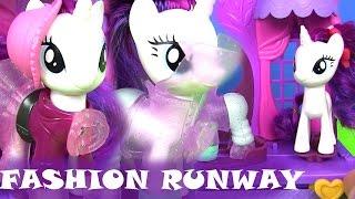 Май Литл Пони Мультик MLP Rarity Fashion Runway Видео для Детей. Игрушки для Девочек
