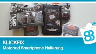 KLICKfix - Motorrad Smartphone Handy Halterung und GoPro CamOn Adapter