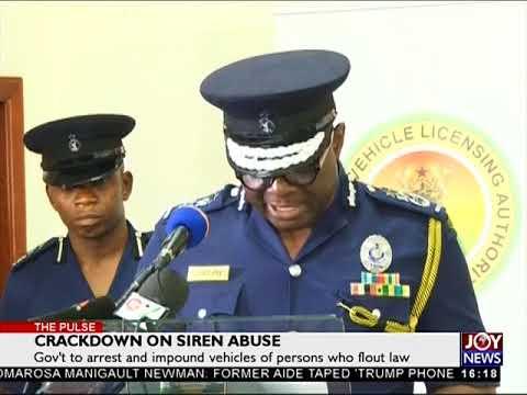 Crackdown on Siren Abuse - The Pulse on JoyNews (14-8-18)