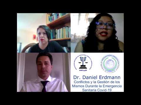 Mediación de Conflictos durante la Emergencia Sanitaria COVID 19 – Daniel Erdmann