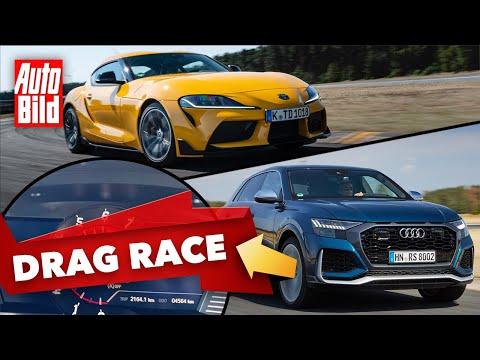 Toyota Supra 2.0 vs. Audi RS Q8 (2020): Drag Race - Beschleunigung