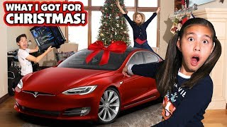 I GOT A TESLA FOR CHRISTMAS!!! Jillian Gets a New Car! Ultimate Gaming PC for Evan!
