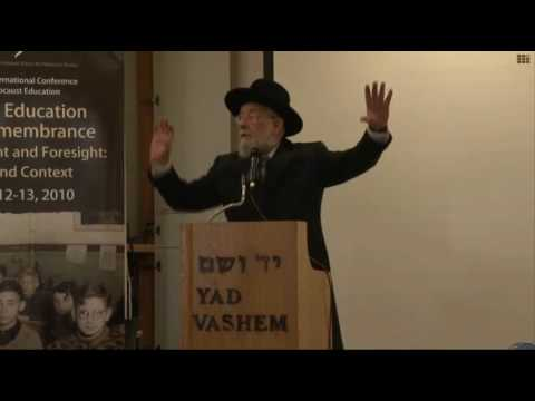 Remarks by Rabbi Israel Meir Lau, Chairman of the Yad Vashem Council  [15:16 min]
