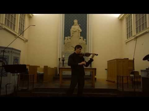 I.S. Bach, Partita №2, Sarabanda. Church performance