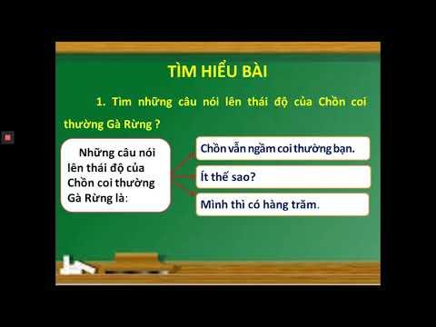 TẬP ĐỌC LỚP 2 - MỘT TRÍ KHÔN HƠN TRĂM TRÍ KHÔN