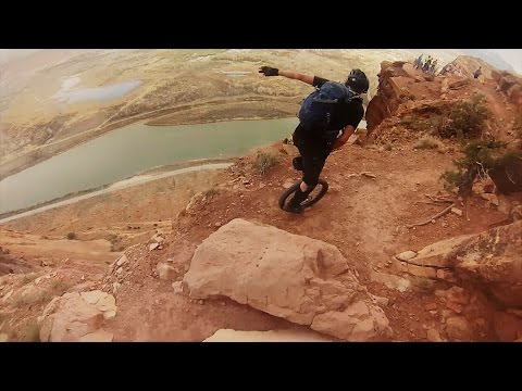 Unicycling Down A Mountain Is Pure Crazy