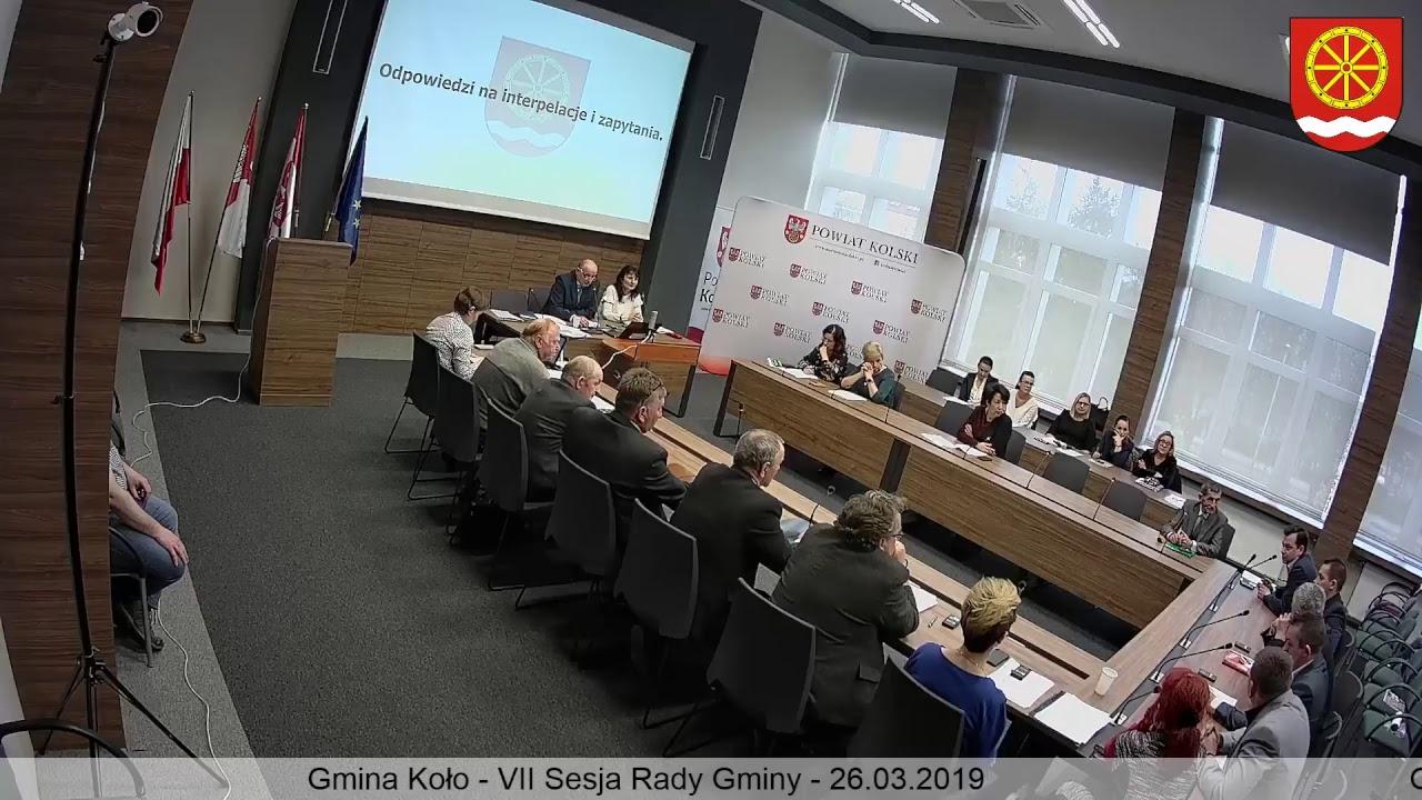 Zdjęcie do VII Sesja Rady Gminy Koło