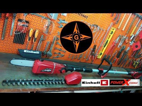 Einhell GE-HC 18 Li T Motosierra y cortasetos 2 en 1 PODADORA DE ALTURA  JARDINERIA