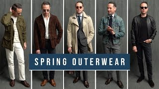 5 Jackets You Must Have For Spring | Essential Spring Outerwear | Mens Fashion Lookbook 2019