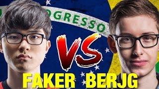 FAKER VS BJERGSEN EN LATAM - RANKED BRASIL - BATALLA DE DIOSES!!
