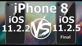 iPhone 8 : iOS 11.2.5 Final vs iOS 11.2.2 Speed Test Build 15D60