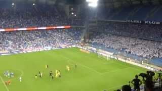 Lech Poznań - Stjarnan 0-0 - radość Stjarnan, podziękowanie kibiców Lecha