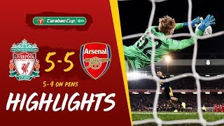Liverpool 5-5 Arsenal (5-4 on penalties) Reds win dramatic 10-goal thriller | Highlights