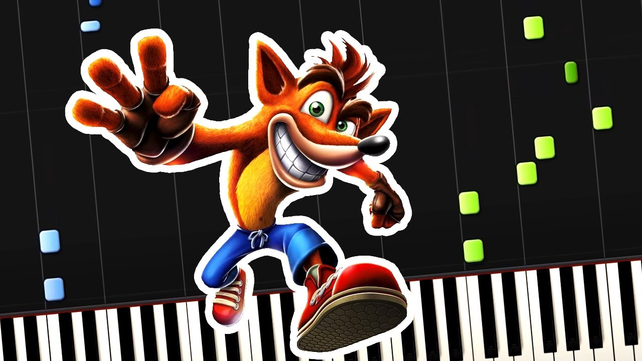 Crash Bandicoot - Theme Song (Piano Tutorial) [Synthesia] - YouTube