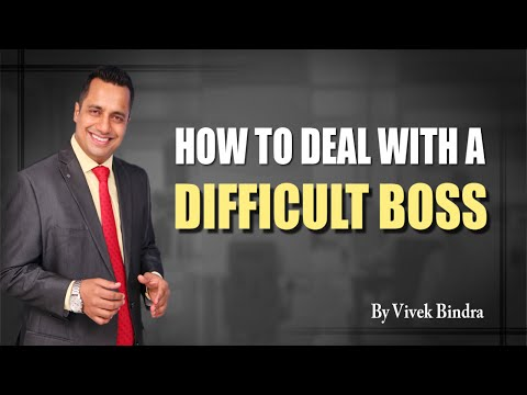 How To Deal with a Difficult Boss Corporate training sessions Video by Vivek Bindra India