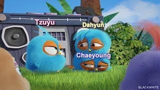 TWICE Maknae line ft Jline as Angry Birds