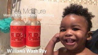 "Shea Moisture Kids: Extra Nourishing Shampoo & Conditioner ""Mango & Carrot"""