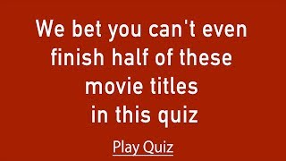 Hard Movie Quiz - Try to score at least a 5