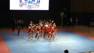 preview picture of video 'Чемпионат Караганды 2014 - Tetcheer - Cheer Juniors / Чир Юниоры'