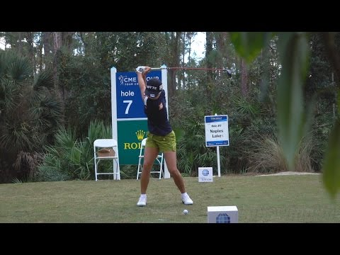 HYO JOO KIM 120fps FACE ON SLOW MOTION GOLF SWING - 2015 CME GROUP TOUR CHAMPIONSHIP 1080p HD