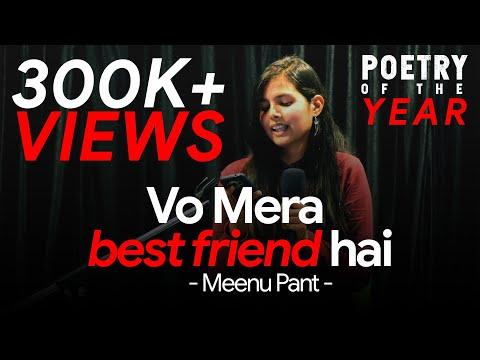 Vo Mera Best Friend hai... | Poetry on Friendship👭 | Meenu Pant | Dastaan