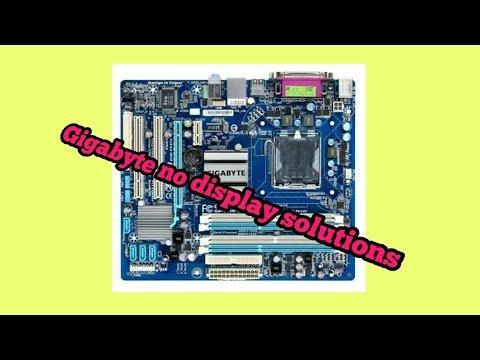 Computer No Display problem Repair Gigabyte Motherboard - смотреть