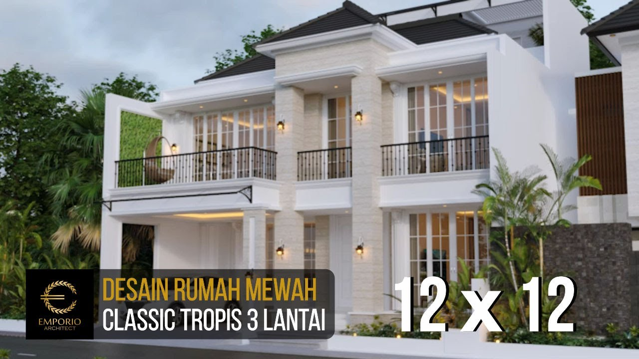 Video 3D Desain Rumah Classic 3 Lantai Ibu Ninin di Tangerang Selatan, Banten