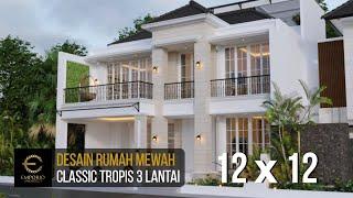 Video Desain Rumah Classic 3 Lantai Ibu Ninin di  Tangerang Selatan, Banten
