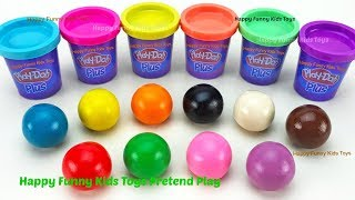 Learn Colors and Making Ice Cream Popsicle with Play Doh Balls Surprise Toys Kinder Surprise Eggs