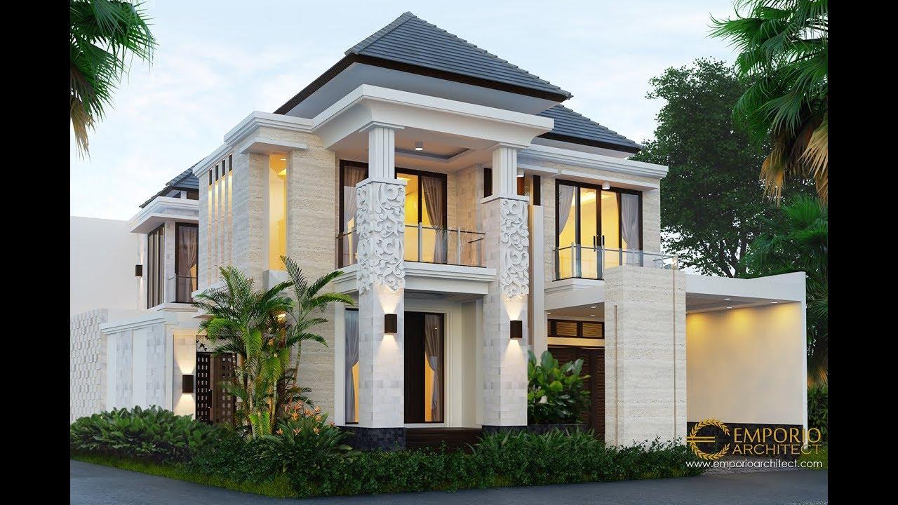 Video 3D Desain Rumah Villa Bali 2 Lantai Bapak Hari di Sanur, Bali