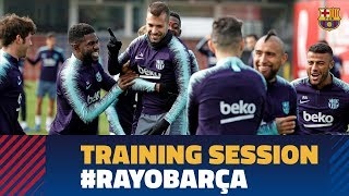 Last workout before the Rayo fixture