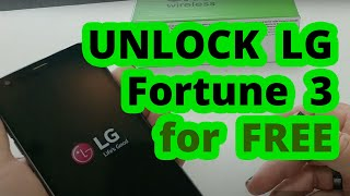🥇 Unlock LG Fortune 3 from Cricket - Device Unlock