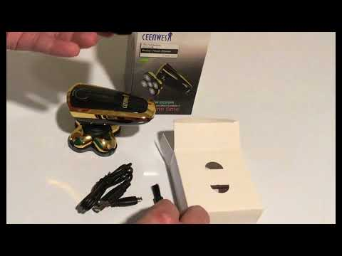 Ceenwes Wet Dry Rechargeable Electric Head Shaver Review