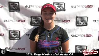 2021 Paige Martins Outfield Softball Player Skills Video - AASA Pikas