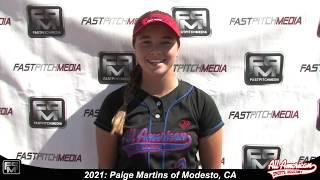 2021 Paige Martins Outfield Softball Player Skills Video - AASA Pikas