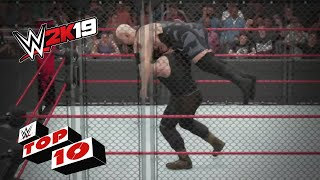 Top 10 Steel Cage Moments: WWE 2K19 Top 10