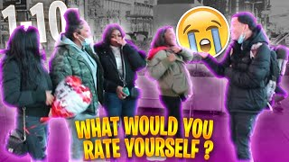 ASKING RANDOM GIRLS TO RATE (THEMSELVES) 1-10