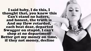 Iggy Azalea ;Fancy; Lyrics On Screen HD