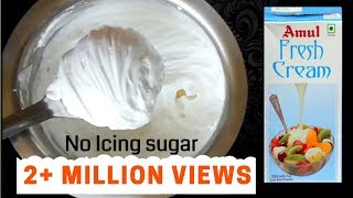 whipped cream recipe powdered sugar vanilla