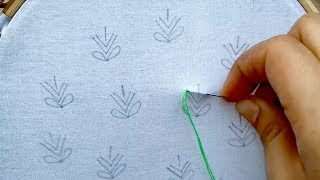 hand embroidery  all over design with brazilian stitch